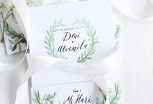 Deni & Alvenila Wedding Invitation by Meilifluous Calligraphy & Design