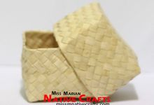 Mini Buri Palm leaf Boxes Wedding favors by Miss Marian Native Crafts