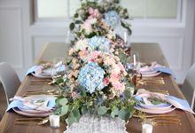 Styled Shoot - Rose Quartz & Serenity by Fleurish Floral Design