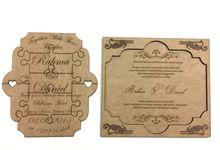 Puzzle Wedding Invitation Card by Ravaro Design