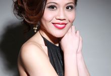 Bridal Studio Makeover Shoot - Elegant and Classic, From Natural to Sophisicated by Sylvia Koh Makeup and Hairstyling