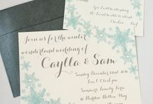 Winter wonderland wedding by Fancy Paperie