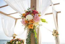 Mesmerizing Sunset Wedding by Lembongan Beach Club and Resort
