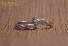Cincin Pernikahan Muslim ( cincin palladium & cincin Emas ) by RoRo Jewellery