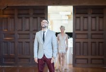 Fashion forward couple's destination wedding at The Montecito Country club in Santa Barbara, California by Kiel Rucker Photography