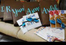 Nilam & Anto bridesmaid gift by InDeodesign Souvenir