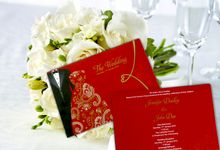 Elegant Red Wedding Card by Indah Baru