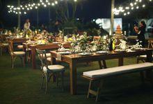 rustic wedding Julian Clark & Felicia anggraini by Sweetbella Florist & Decoration
