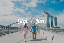 Gigi and Jun - Singapore Engagement Photography by Love Train Studios