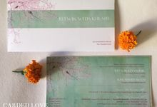 Wedding Invitations by Carded Love