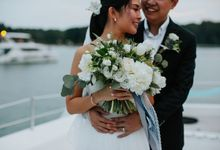 Nautical White & Blue Yacht Wedding by Fleurish Floral Design