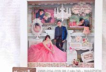 Kairos 3d Frame scarp work by Kairos Wedding Invitation