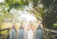Kylies Bridesmaids in Dark Platinum by Goddess By Nature
