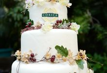 Rustic Wedding Cake , Wedding Apriska & Ahimsa by Corica Pastries