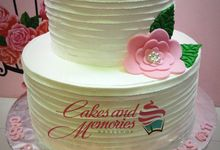 Two Layer Wedding Cakes by Cakes and Memories Bakeshop