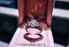 Cushion Natural Pink Diamond Three Stone Engagement Ring by LES PRECIEUX