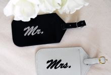 Mr & Mrs Luggage Tag and Passport Cover by A Box Full of Matches