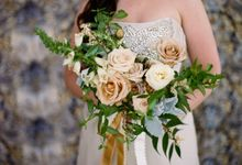 Garden-Inspired Wedding Bouquet by Stone House Creative