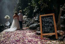 Waterfall American Wedding by Mariyasa