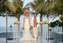 Wedding Ceremony at The Royal Santrian by The Royal Santrian Luxury Beach Villa