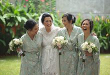 Bridesmaids Robes for CA Wedding Jakarta by Serendipicky