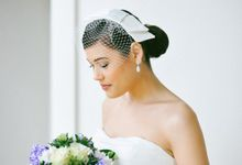Bridal birdcage veil by Madame Tulle by Madame Tulle