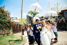 TRILINGUAL MC for Radius & Cathy's wedding at Latitude Villa Bali Indonesia by BEBOP Entertainment