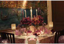 Romantic Birthday Dinner for Andre & Melinda by Pink Clover Design