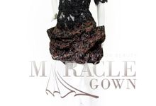 Miracle Gown Couture - Wonderlust black brocade cocktail by Miracle Gown