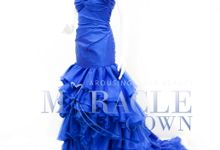 Miracle Gown Couture - Royal Blue Mermaid Dress by Miracle Gown