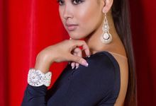 Miss Universe Singapore in Paqarina Jewellery by Covetella