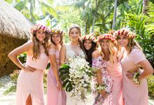 Bora Bora Wedding by JINZA Couture Bridal