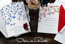 Oscar de la Renta wedding invitation by Paperless Post