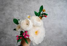 paperflower bouquet (bridesmaid) by TELATEN