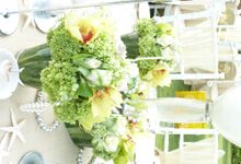 Tropical Sea - Adenan & Angeline by Puri Amanda Flower Boutique