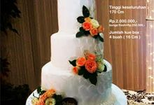 Wedding Cake 3 Tiers by Pelangi Cake