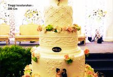 wedding cake by Pelangi Cake
