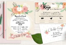 Painterly Floral Wedding Kit by The Cat Carousel
