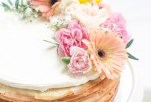 Party Cake - Mille Crepes with Fresh Flowers by Lareia Cake & Co.