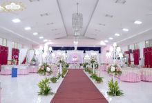 Wedding of Mr Andri and Mrs Farah at gedung Pusrehab Veteran by Vessa Catering