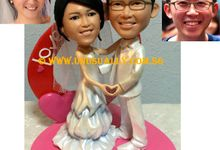 Personalized One And Only 3D Sweet Lovely Wedding Couple Figurines by UNUSUALLY CREATION - THE ORIGINAL 3D FIGURINE'S FOUNDER
