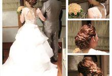 wedding hairdoy by Didien hairdresser