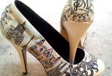 Jet & Myles Vintage Spanish Themed Wedding Shoes by TMP Custom Shoe Studio
