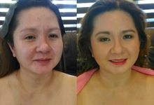 before and after by Couture Faces by Hazel