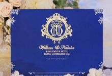 Winter themed Wedding Invitation for William & Natalia by Jolly's Little Dreams