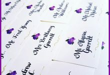 Calligraphy Place Cards by Calligraphy By Jennifer