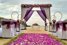 Purple Wedding Theme by Courtyard by Marriott Bali Nusa Dua