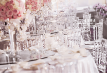 Pink and White wedding in Langham Hotel by EUKA EVENTS