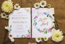 Revita & Arief - Pastel Floral Invitation by Bluebelle Invitations