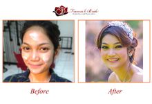 Before - After Make Up by Francis'k Bride